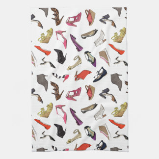 Trendy fashion shoes kitchen towel