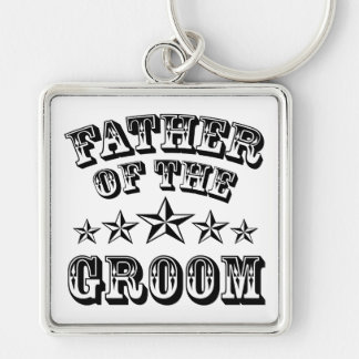 Trendy Father Of The Groom Keychain