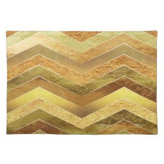 Trendy Faux Gold Foil Chevrons Placemat