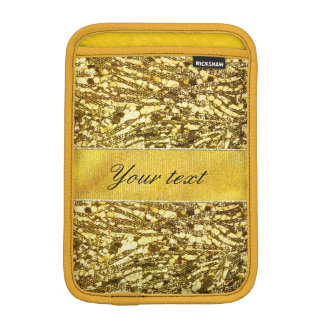 Trendy Faux Gold Foil Zebra Stripes iPad Mini Sleeves