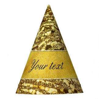 Trendy Faux Gold Foil Zebra Stripes Party Hat