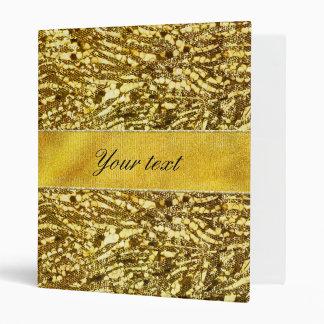Trendy Faux Gold Foil Zebra Stripes Vinyl Binders