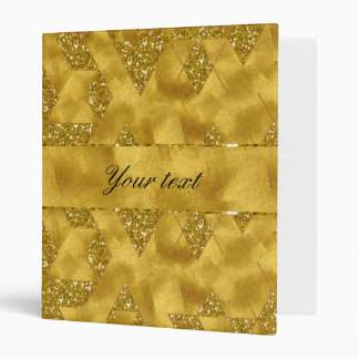 Trendy Faux Gold Glitter Triangles Binders