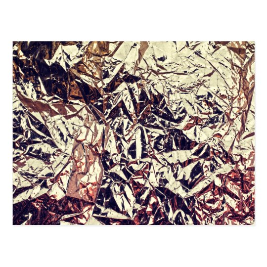 Trendy Faux Gold Leaf Crumbly Foil Postcard