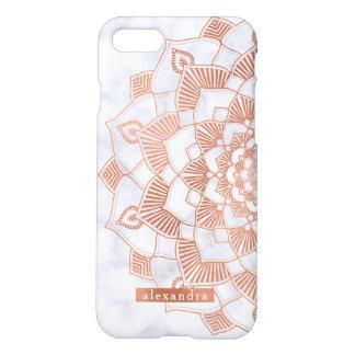 Trendy Faux Rose Gold Foil Mandala Lace iPhone 8/7 Case