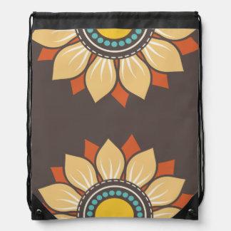 Trendy Floral Pattern Drawstring Backpack