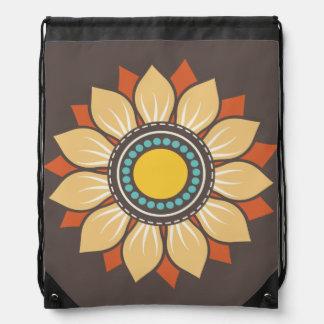 Trendy Floral Pattern Drawstring Backpacks