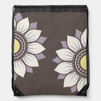 Trendy Floral Pattern Drawstring Bags