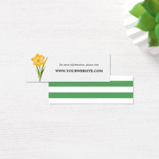 Trendy Flower YELLOW CROCUS  Website Cards | Mini