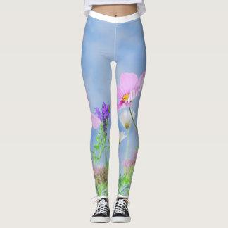 Trendy Flowers put-went Leggings