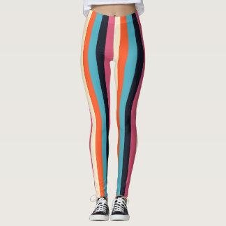trendy fresh stylized stripes leggings