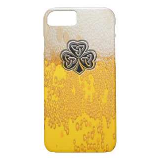 Trendy fun beer Irish lucky shamrock iPhone 8/7 Case