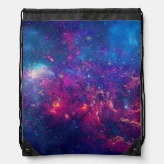 Trendy Galaxy Print / Nebula Drawstring Backpack