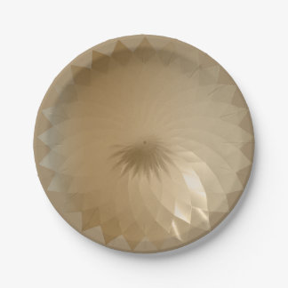 Trendy Geometric Gold Modern Background 7 Inch Paper Plate