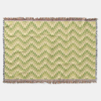 Trendy geometric green chevron pattern throw blanket