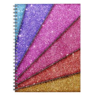 Trendy Geometrical Glitter Stripes Notebook