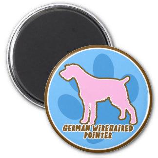 Trendy German Wirehaired Pointer 2 Inch Round Magnet