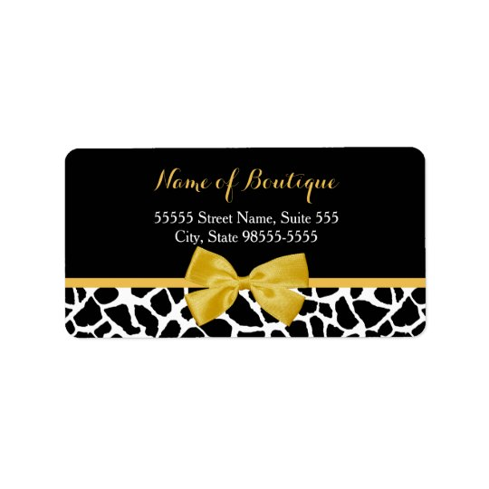 Trendy Giraffe Print Yellow Bow Fashion Boutique Label
