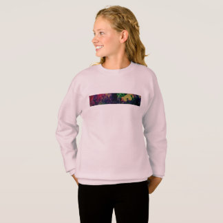 Trendy girls/toe sweater Colorful soul music