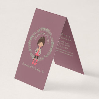 Trendy Girly Avatar Business Card