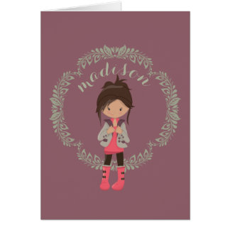 Trendy Girly Avatar Card