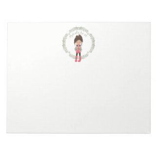 Trendy Girly Avatar Notepad