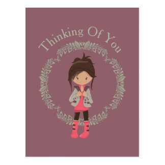 Trendy Girly Avatar Postcard