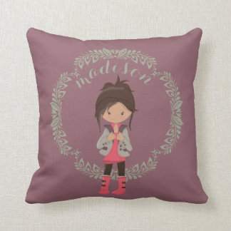 Trendy Girly Avatar Throw Pillow