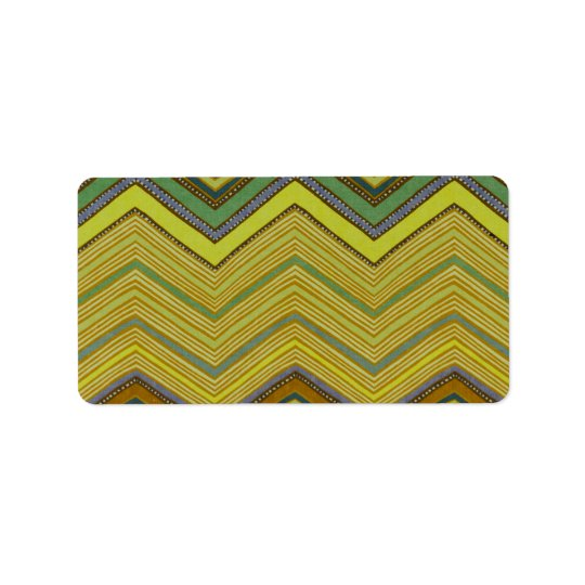 Trendy Girly Brown Yellow Zigzag Pattern
