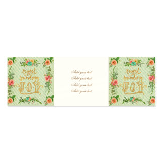 trendy,girly,country,chrismas,pattern,shabby,chic, pack of skinny business cards