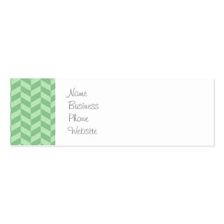Trendy Girly Green Zig Zags Pattern Stripes Pack Of Skinny Business Cards