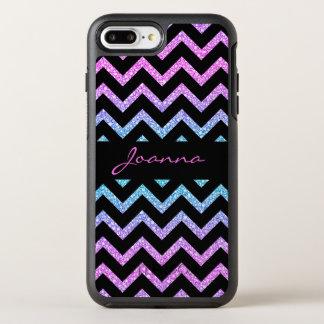 Trendy Glitter And Black Chevron OtterBox Symmetry iPhone 8 Plus/7 Plus Case