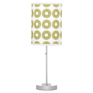 Trendy Glitter Gold Polka Dots Table Lamp