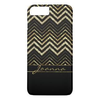 Trendy Gold And Diamonds Chevron iPhone 8 Plus/7 Plus Case