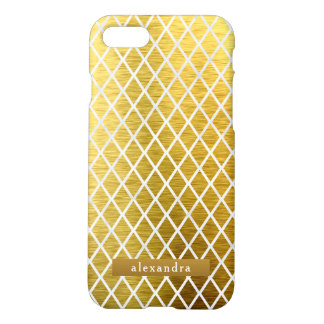 Trendy Gold Diamonds Pattern iPhone 8/7 Case