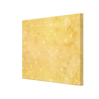 Trendy Gold Foil Stars Watercolor Canvas Print