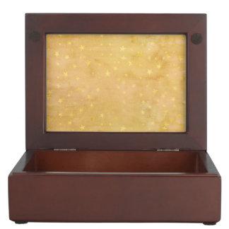 Trendy Gold Foil Stars Watercolor Keepsake Box
