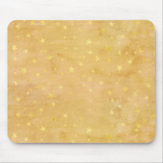 Trendy Gold Foil Stars Watercolor Mouse Pad