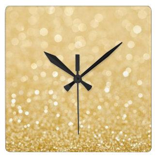 Trendy Gold Glitter Wall Clock