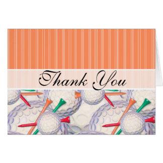 Trendy Golf Balls & Tees Pattern Card