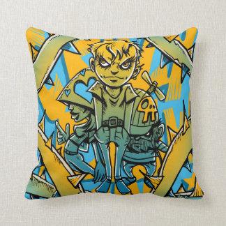 Trendy Graffiti Pop Art Throw Pillow