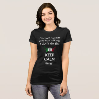 Trendy Graphic Funny Keep Calm Sicilian Viking T-Shirt