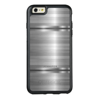 Trendy Gray Stripes Pattern OtterBox iPhone 6/6s Plus Case