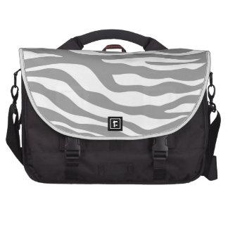 Trendy Gray Zebra Print Pattern Commuter Bags