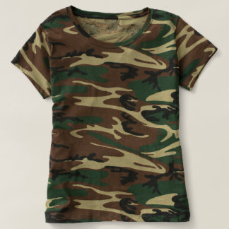 Trendy Green Camouflage T-shirt