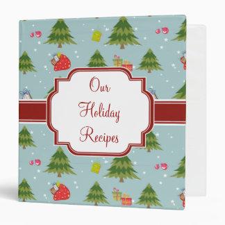 Trendy Green Christmas Tree Recipe binders