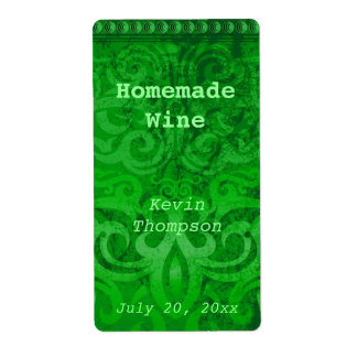 Homemade wine labels homemade wine address labels return for Homemade shipping label