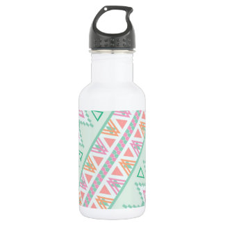 Trendy Green Orange  Andes Tribal Zigzag Pattern 532 Ml Water Bottle