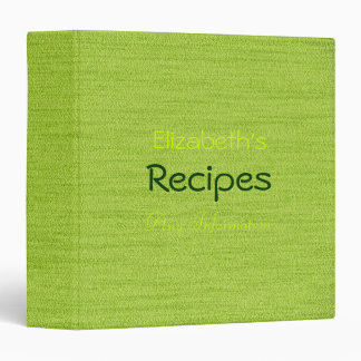 Trendy Green Professional Recipes Binder