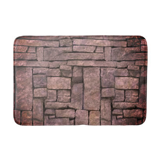 Trendy grey beach stone texture design bath mat